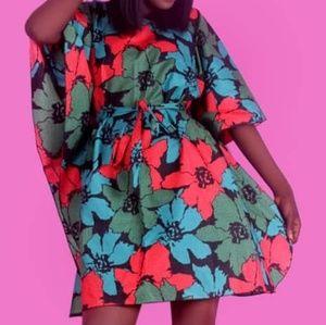 Ankara African print Mini dress